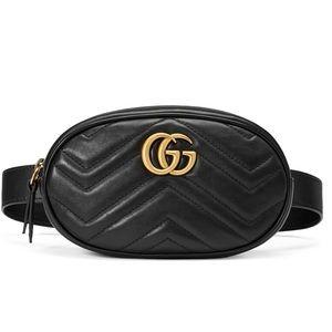 Auhtentic GUCCI GG Marmont Matelasse Belt Bag